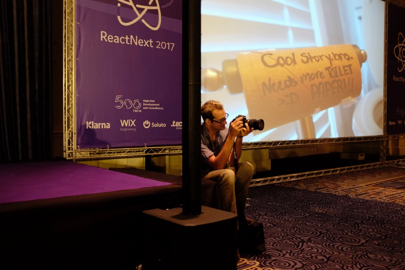 Photographer at ReactNext 2017