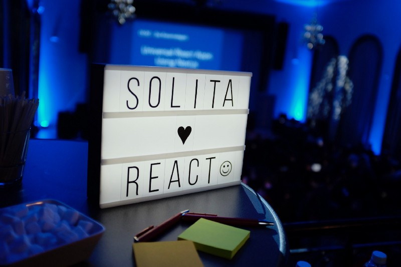 Solita hearts React and we do too.